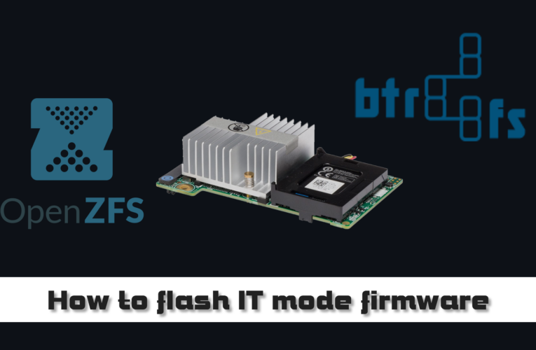 How to flash the H310 H710 raid controllers to IT mode firmware